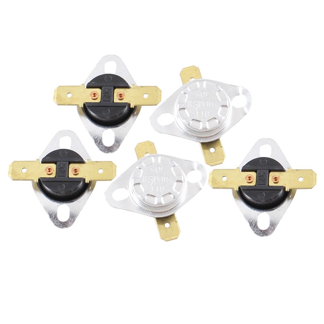 5 Pcs 110 Celsius 230F Normal Close Temperature Controlled Switch KSD301