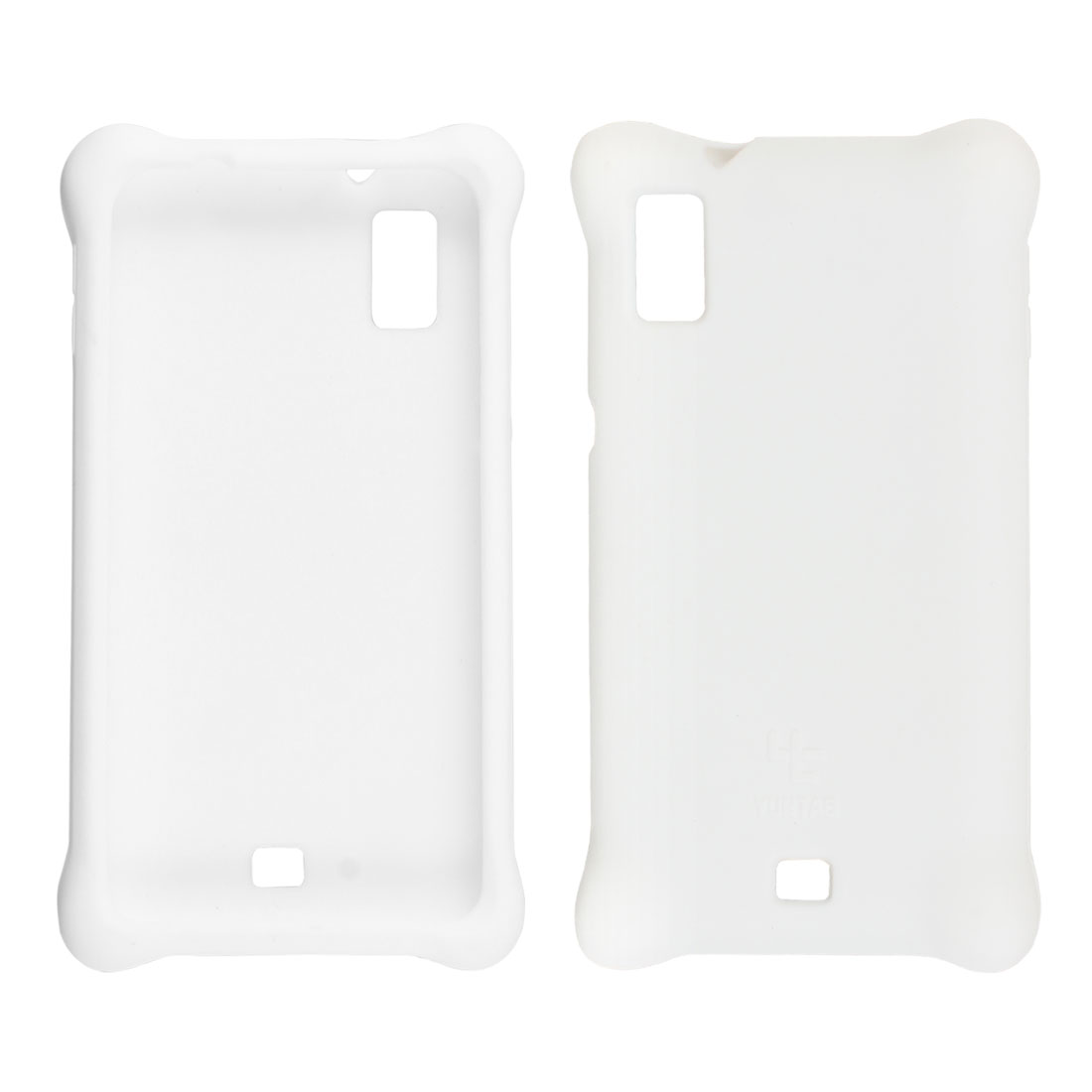White Silicone Skin Case Cover Protector for Cobalt SP500 Cell Phone