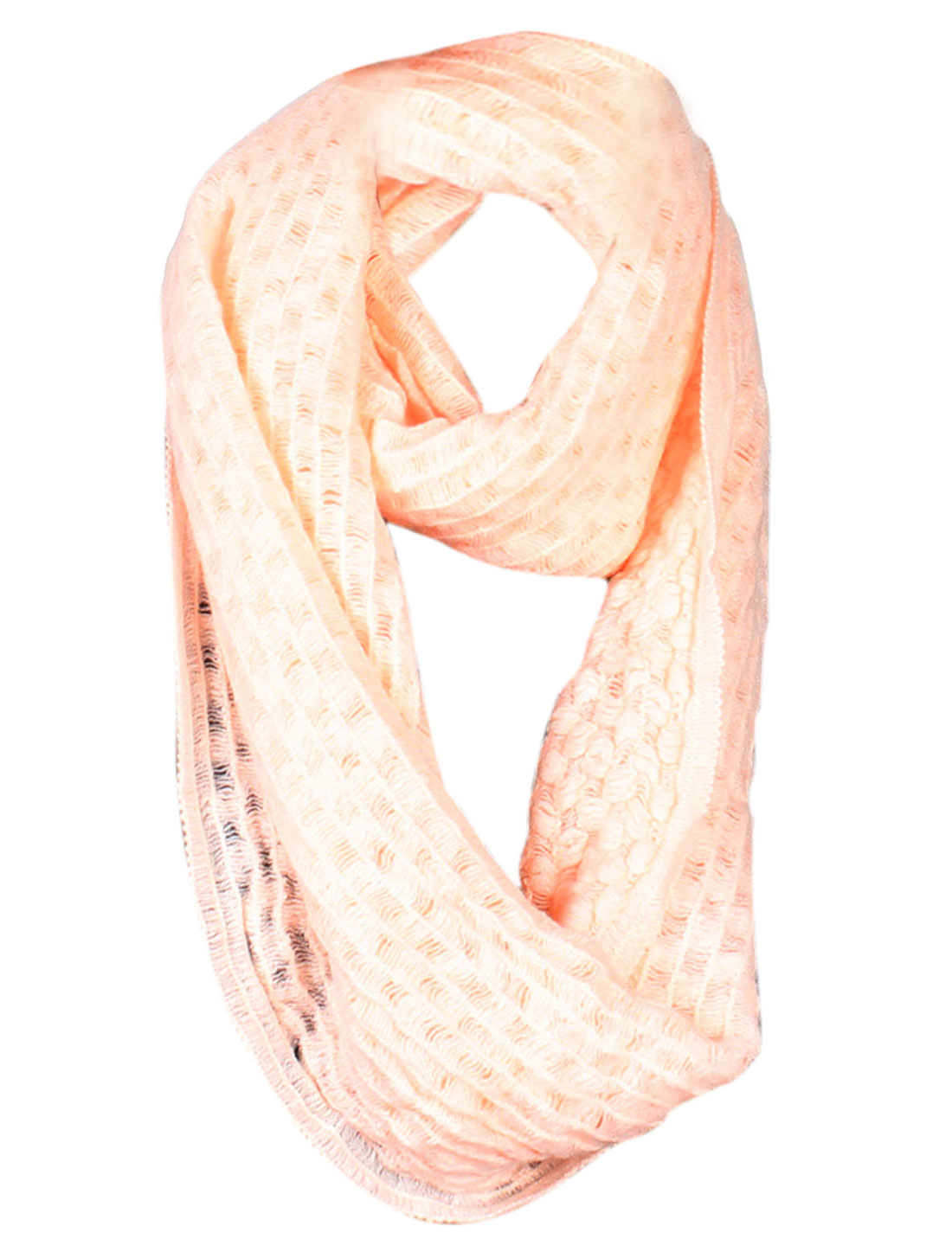 Light Orange Knitted Bandelet Collar Scarf Winter Neck Warmer for Women
