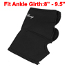 Men Gym Exercise Black Neoprene Stretchy Guard Ankle Support Brace Protecor
