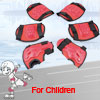 Children Skating Cycling Red Black Wrist Elbow Knee Pad Mat Protector Set 3 in 1