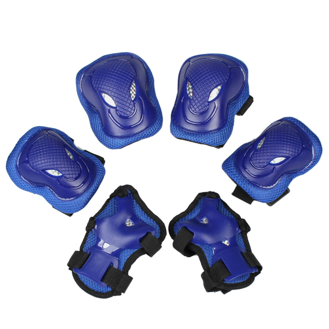Solid Blue Cow Head Design Palm Knee Elbow Pads Support Protector for Adult