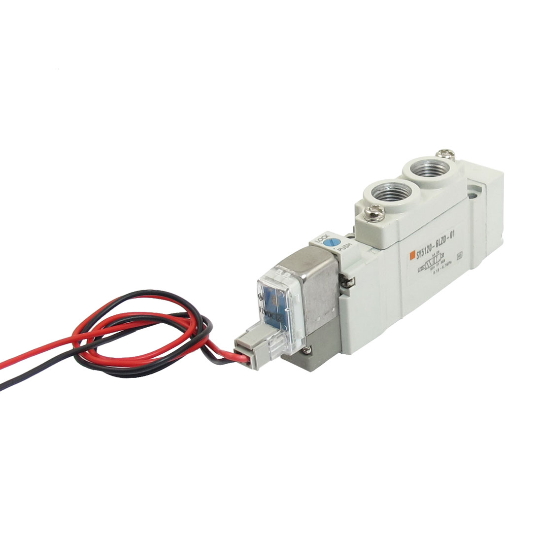 DC 12V 2 Position 5-way Electric Pneumatic Power Control Solenoid Valve