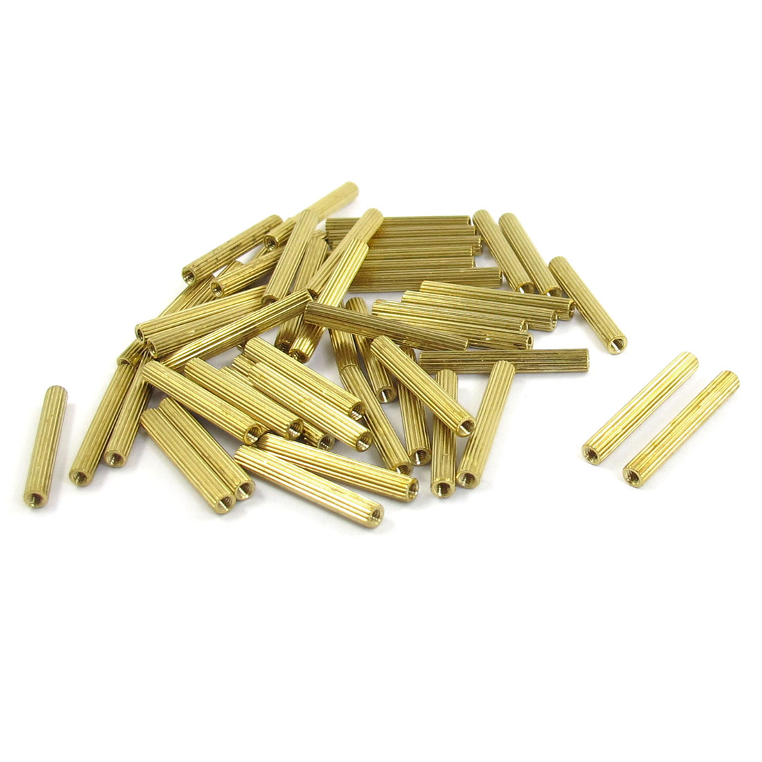 M2x23mm Cylinder Shaped Female Threaded Brass Standoff Spacer 50Pcs