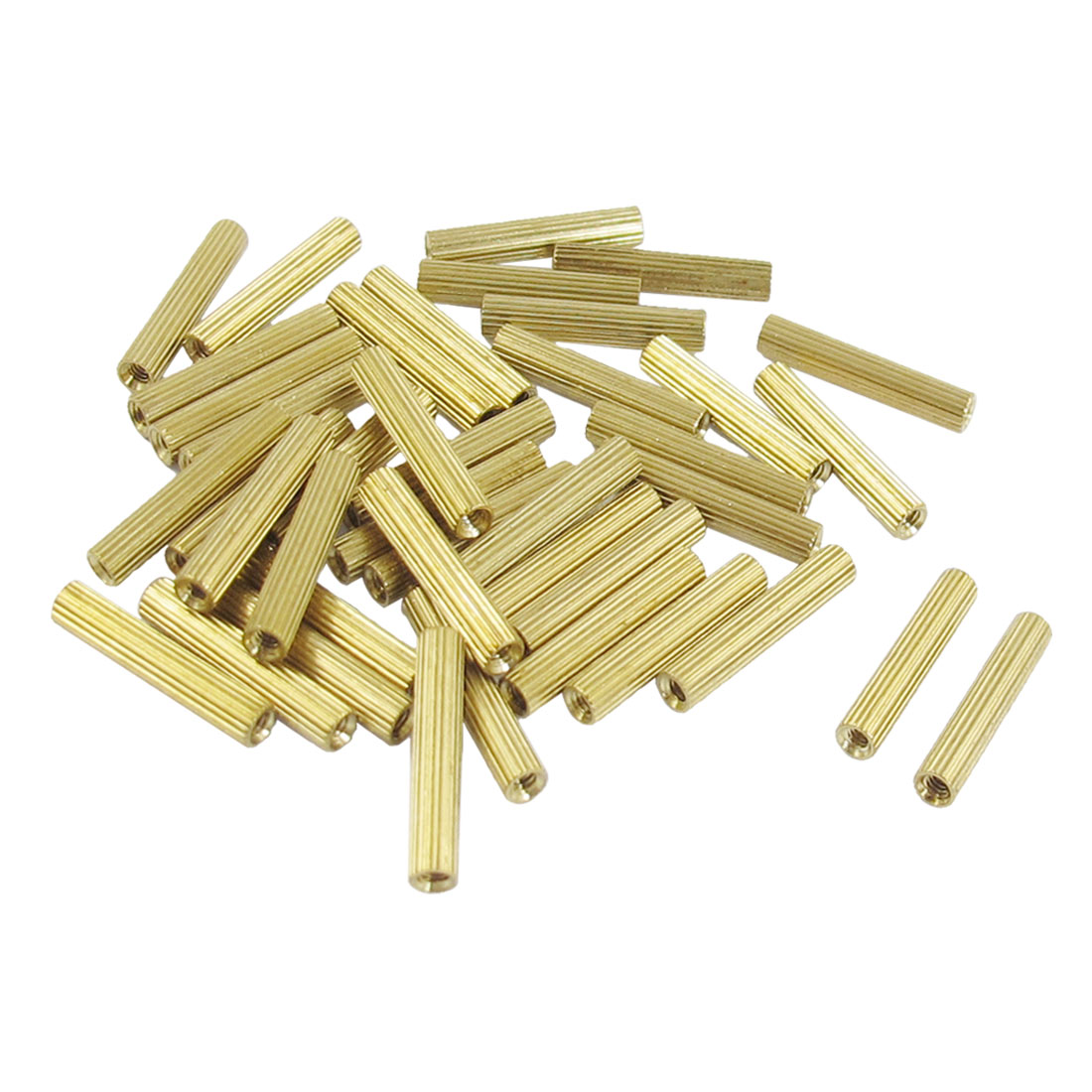 50 Pcs M2 Female Thread Cylindrical Brass Stand-off Support M2x13mm