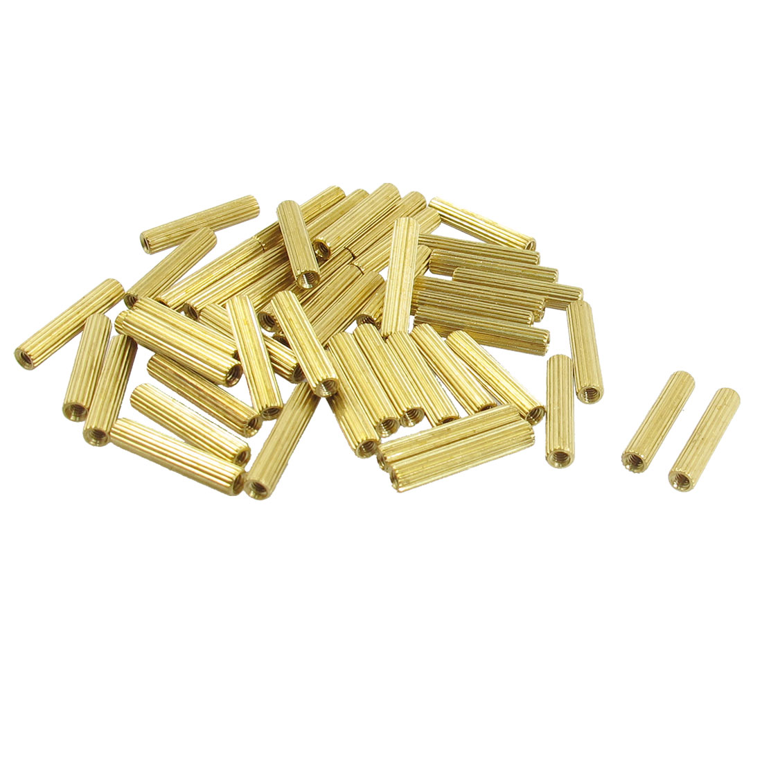 50 Pcs M2 Female Thread Cylindrical Brass Stand-off Support M2x16mm