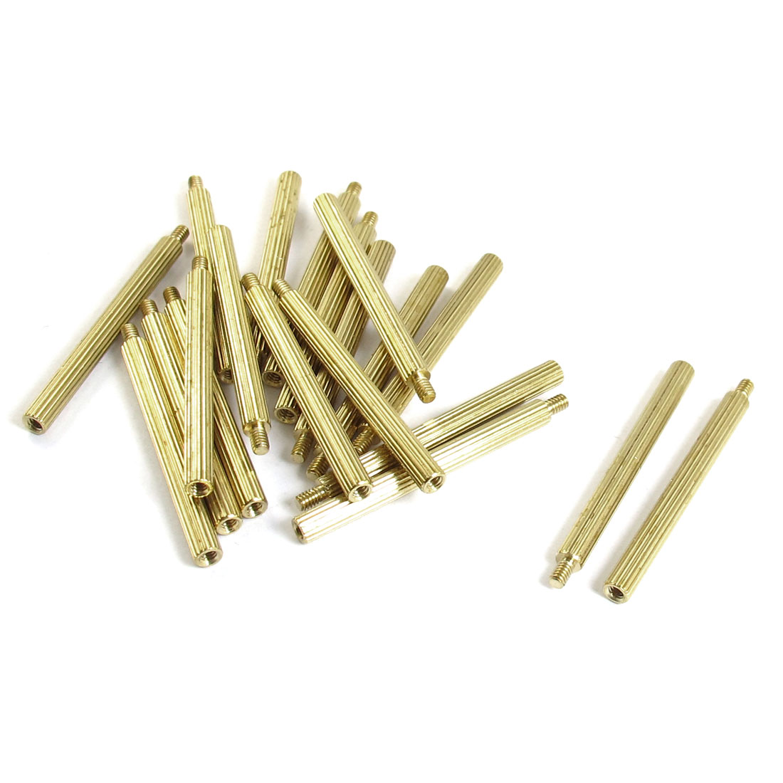 20 Pcs Male to Female Thread Brass Pillars Standoff Spacer M2x32mmx35mm