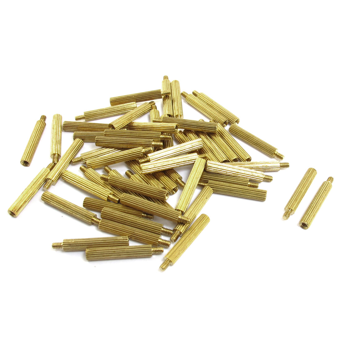 50 Pcs Male to Female Thread Brass Pillars Standoff Spacer M2x17mmx20mm