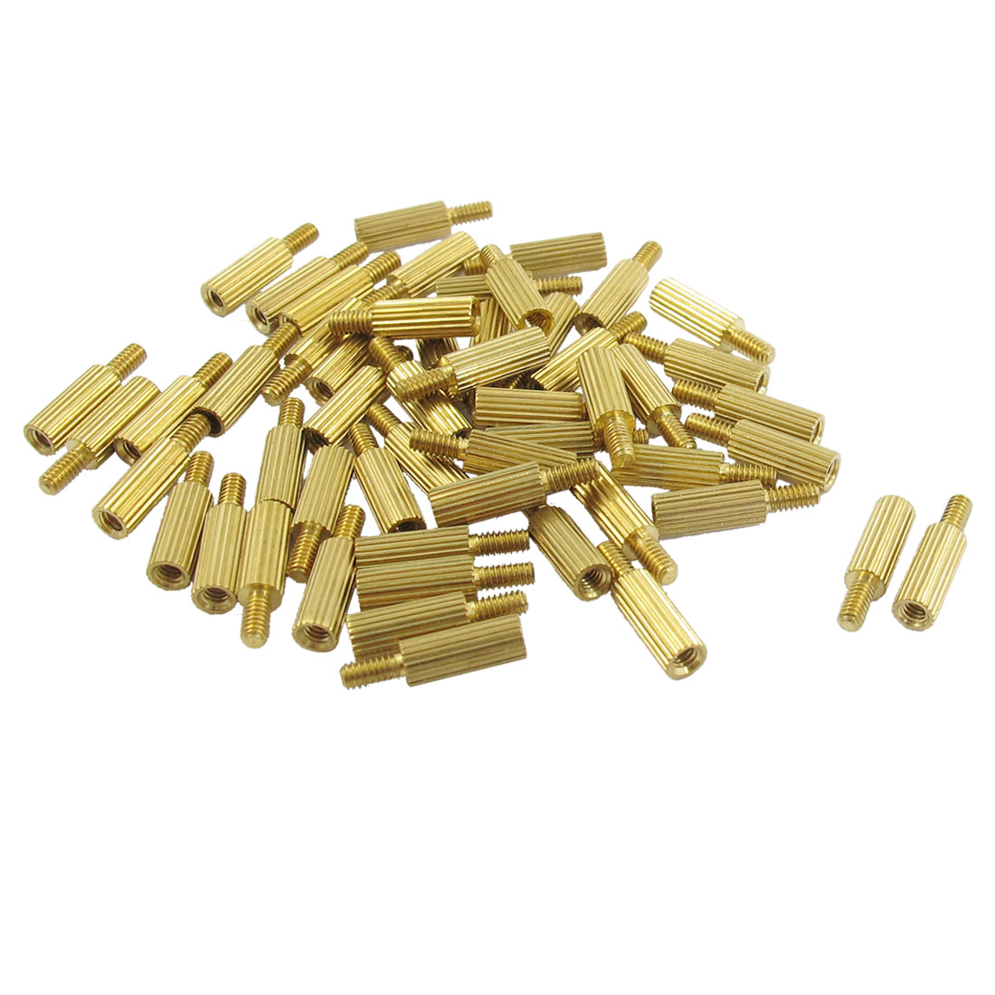 50 Pcs Male to Female Thread Brass Pillars Standoff Spacer M2x8mmx11mm