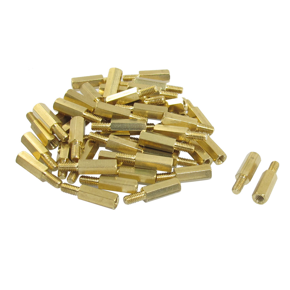 50 Pcs Male to Female Threaded Hexagonal Standoff Spacer M4x15mmx21mm