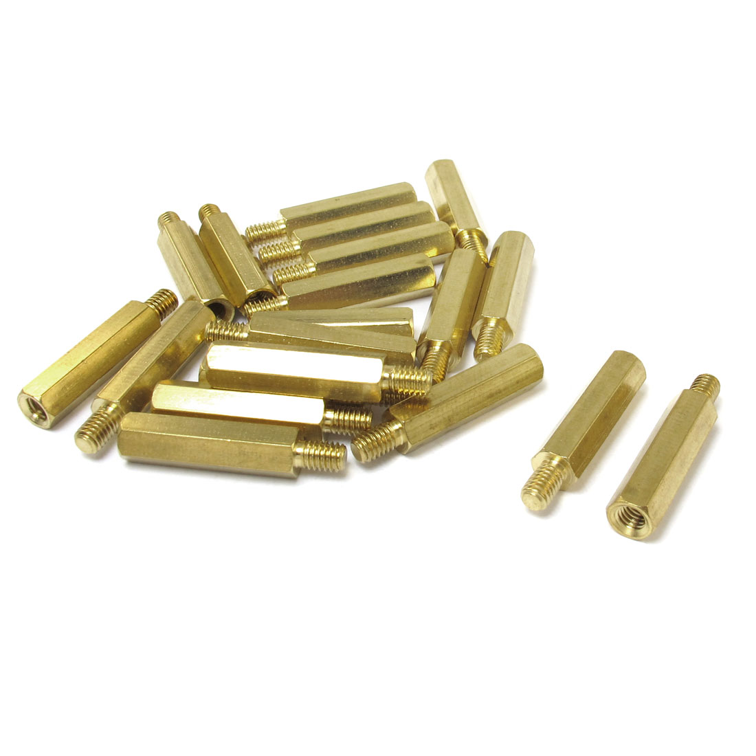 20 Pcs Gold Tone Male Female Hexagonal PCB Standoff Spacers M4x23mmx29mm