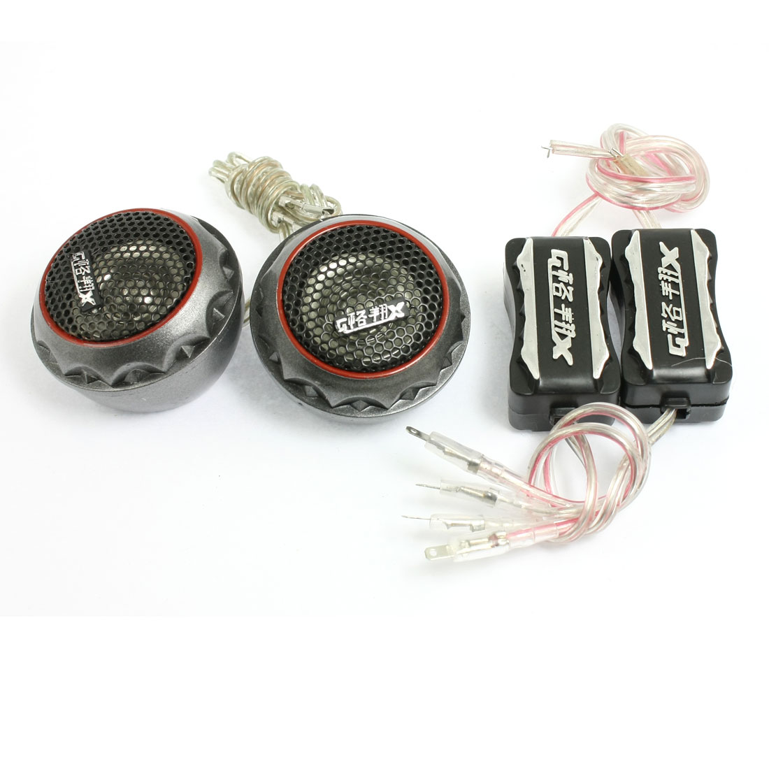 "2 Pcs 180W Angle Surface Mount 1.8"" Dia Dome Tweeters Speakers for Car"