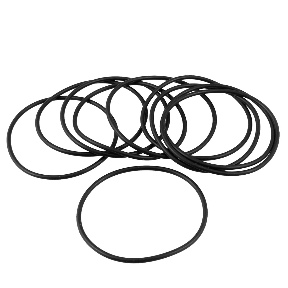 46mm x 42mm x 2mm Rubber Sealing Oil Filter O Shape Rings Gaskets 10 Pcs
