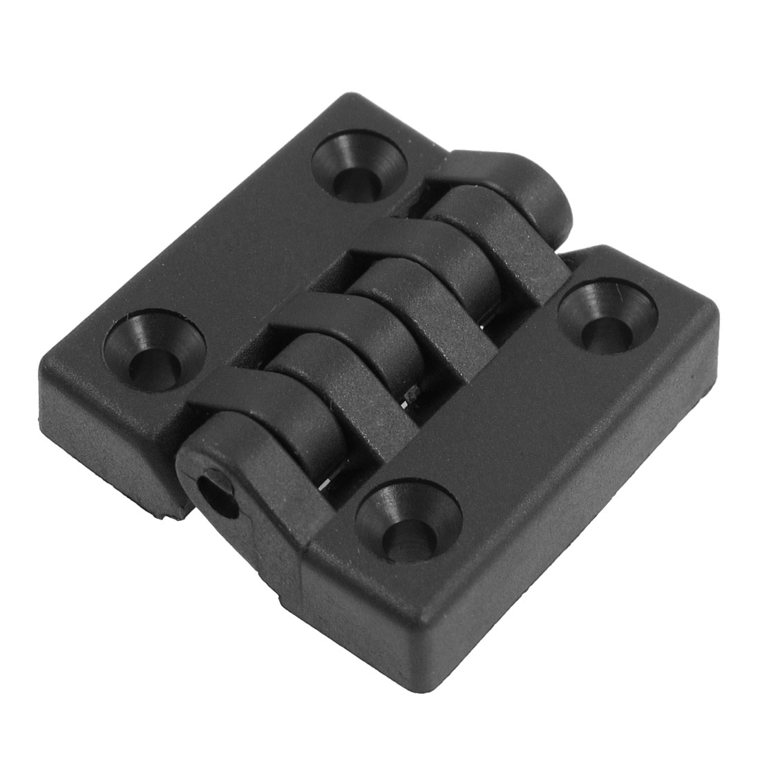 40mm x 40mm Countersunk Hole Plastic Cabinet Ball Bearing Hinge Black