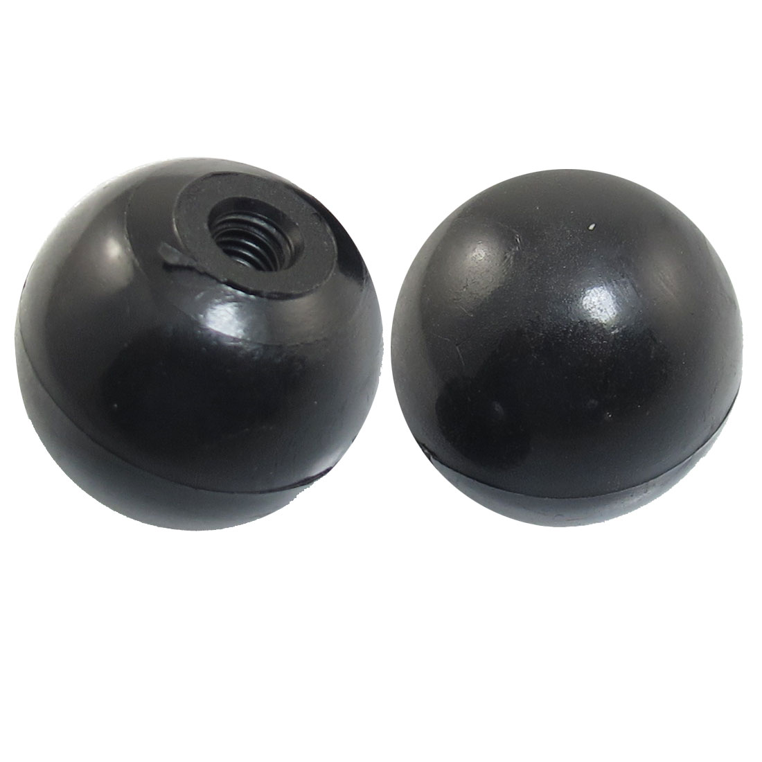5mmx25mm Black Plastic 25mm Diameter Handgrip Ball Knob 2 Pcs