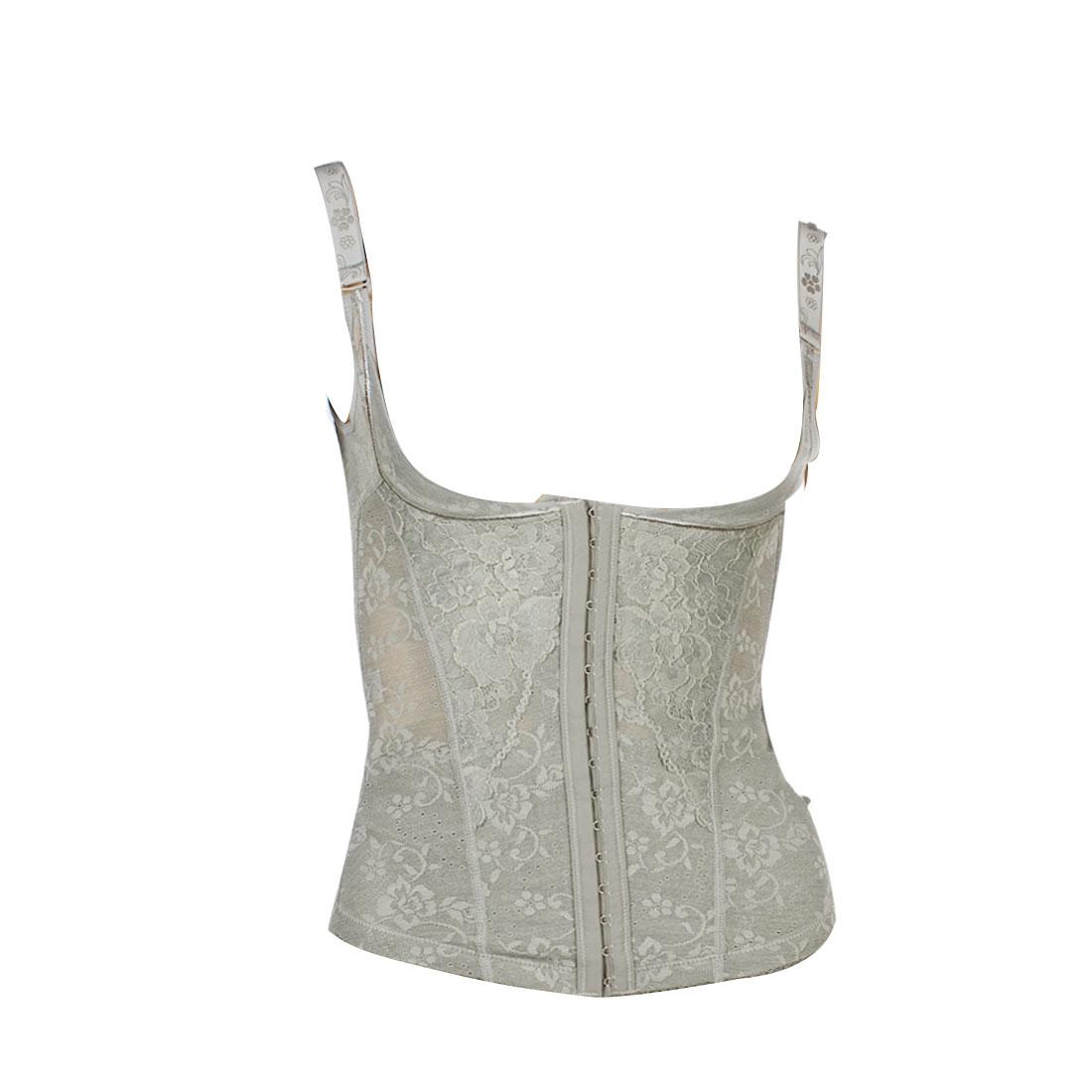 Ladies Gray Spagetti Strap Slimmer Tank Tops Shapewear Body Shaper XS