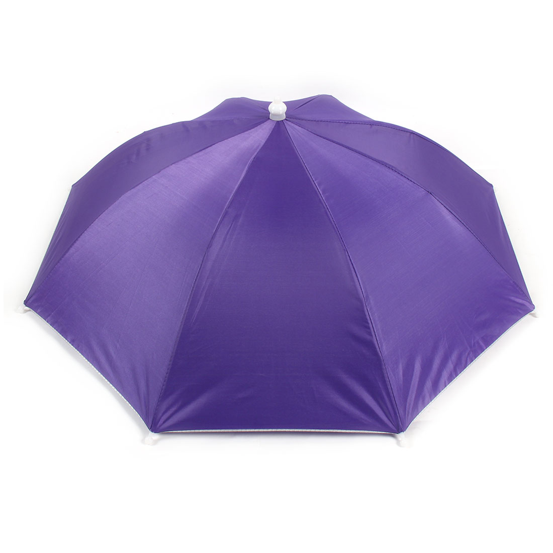 Portable Black Elastic Headband Purple Canopy Umbrella Hat Cap for Fishing
