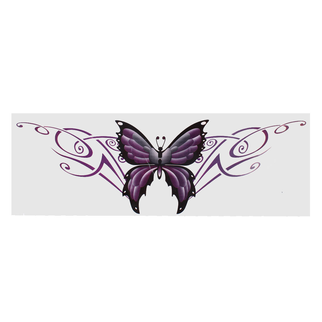 Purple Car Exterior Decorative Butterfly Design Blink Decal Sticker