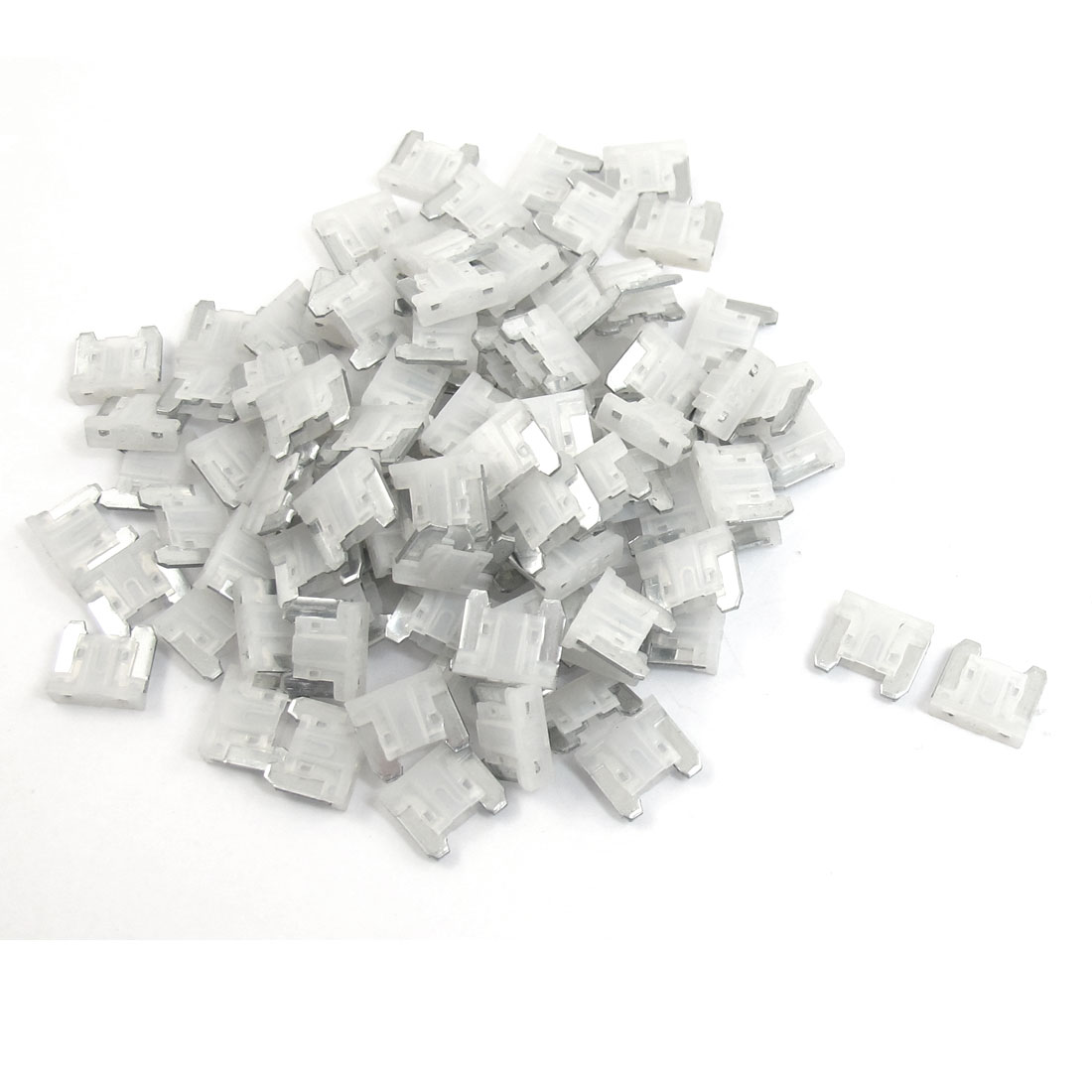 Motorcycle Taxi Truck Boat Auto Car Blade Fuse White 20A 100 Pcs
