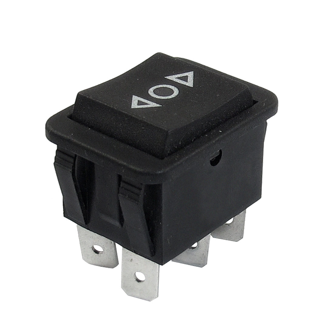 Momentary 6 Pin DPDT Black Button On/Off/On Rocker Switch AC 250V/10A 125V/15A