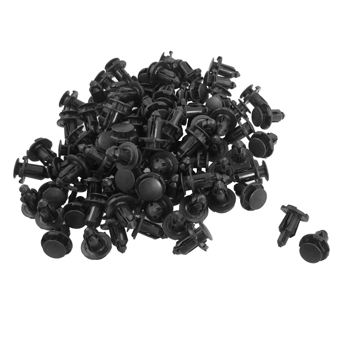 100 Pcs Plastic Rivets Retainer Clip 18 x 20 x 8.5mm for Car Bumper Fender