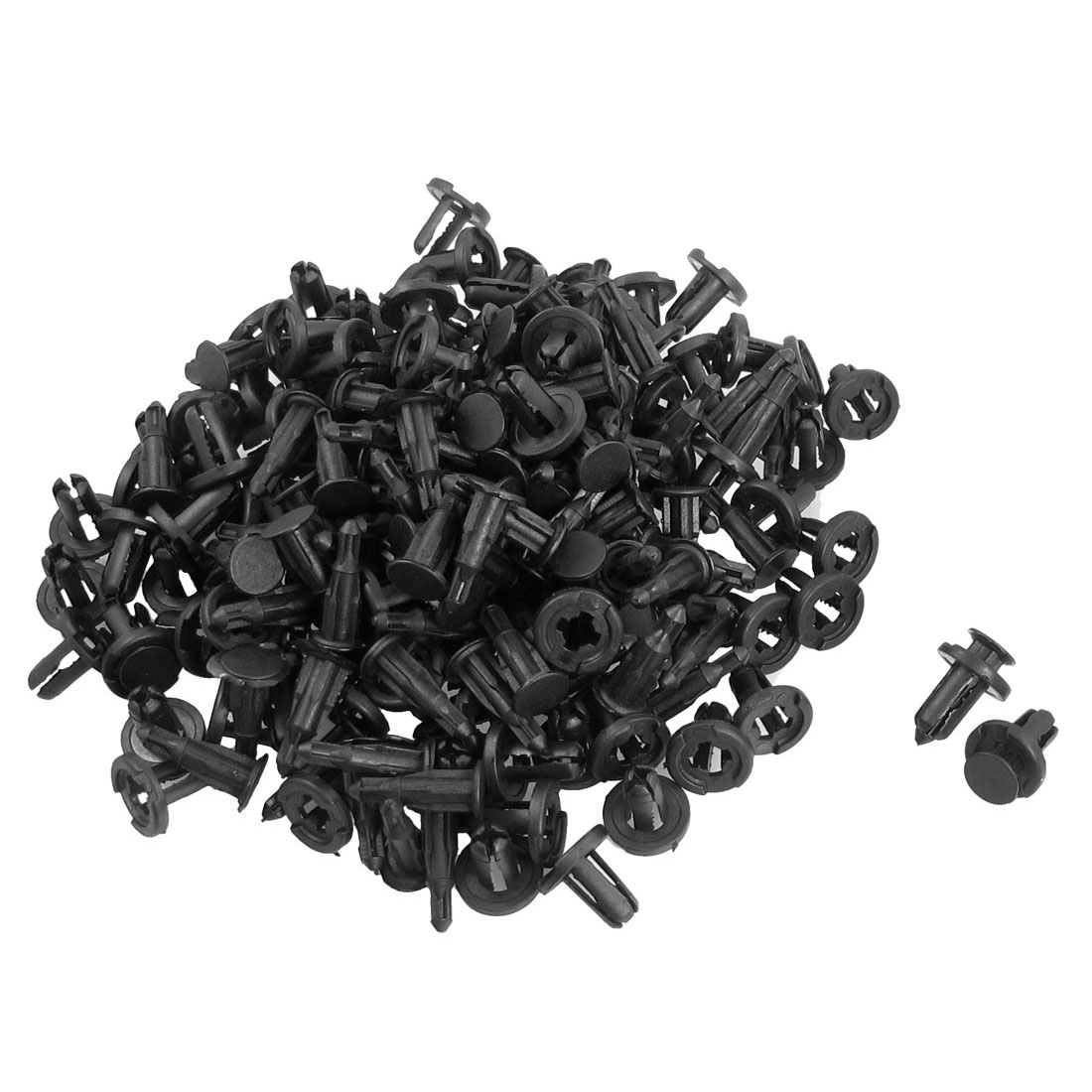 100 Pcs Plastic Rivets Retainer Clip 20mmx23mmx10mm for Car Bumper Fender