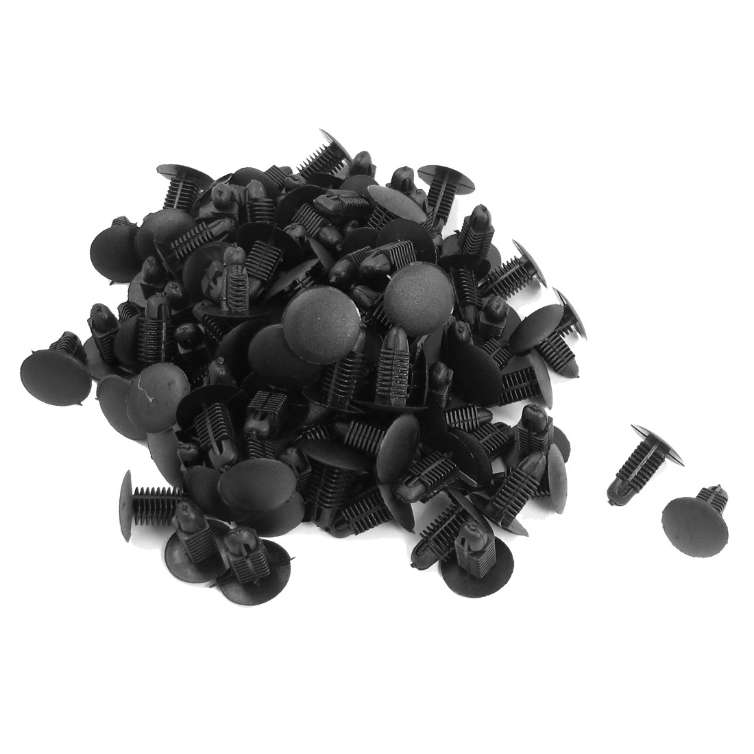 100 Pcs Car Auto 8.6mmx8mm Hole Plastic Trim Boot Rivets Push Clip Black