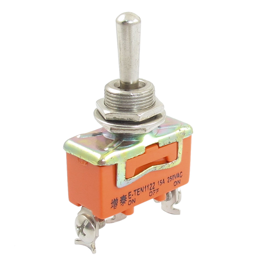 Orange 3-Position 3 Terminals SPDT Toggle Switch AC 250V 15A