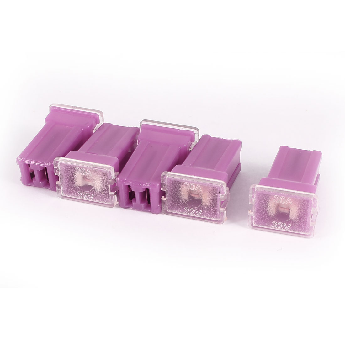 Fuchsia 30A 32V J Case Female Adapter in Blade Cartridge PAL Fuse 5 Pcs