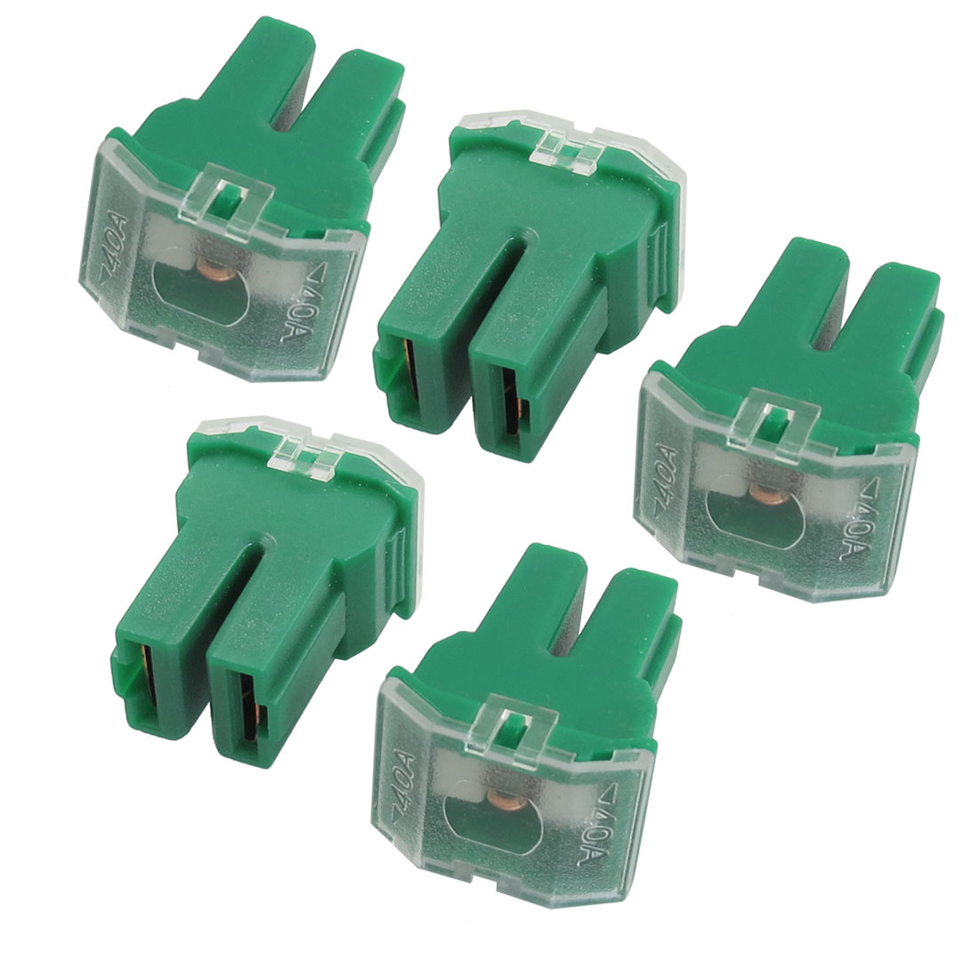 5 Pcs 40A Green PAL Pacific Type Female Slow Blow Fuse for Car Auto