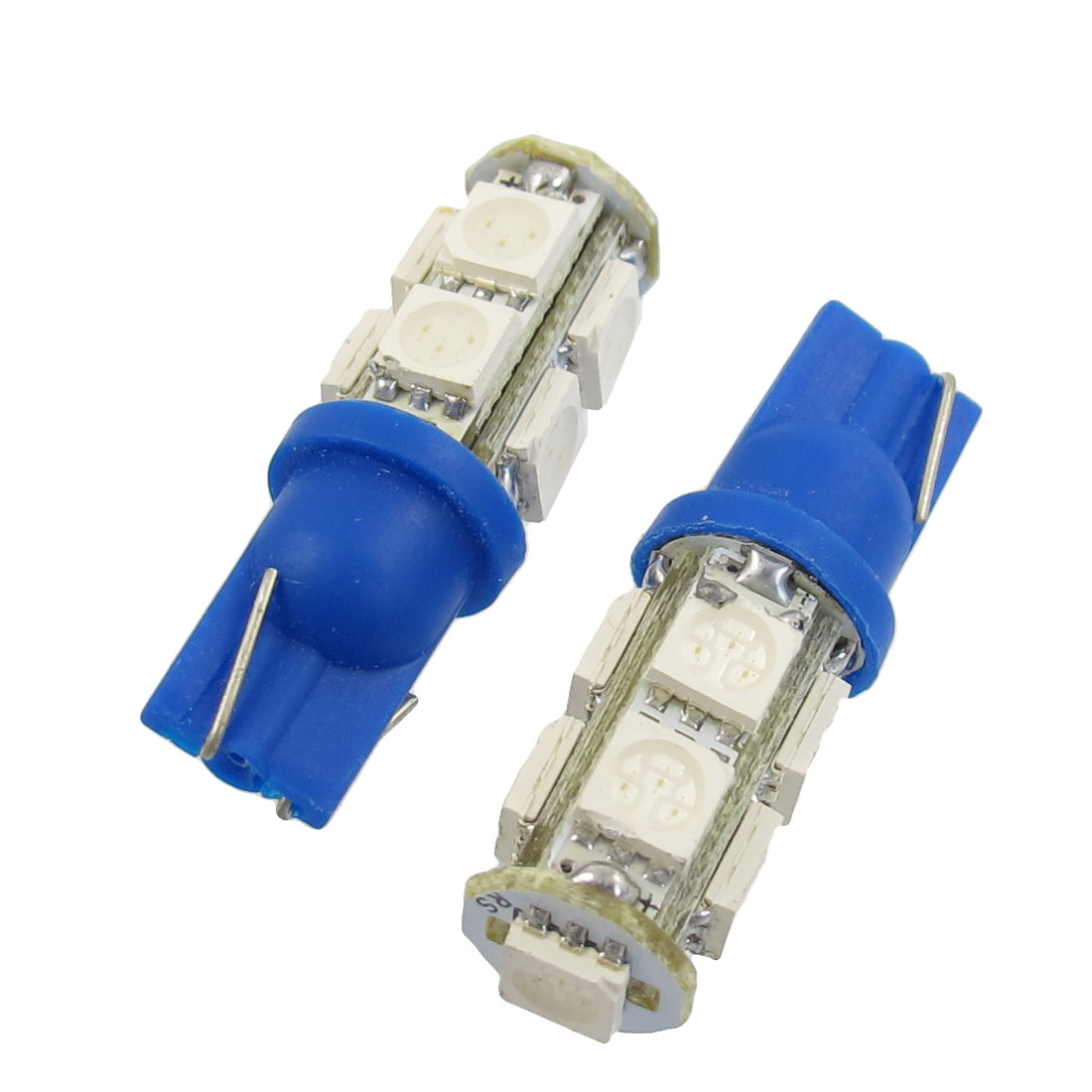 2 Pcs T10 194 168 W5W Blue 5050 SMD 9 LED Car Light Bulb lamp 12V