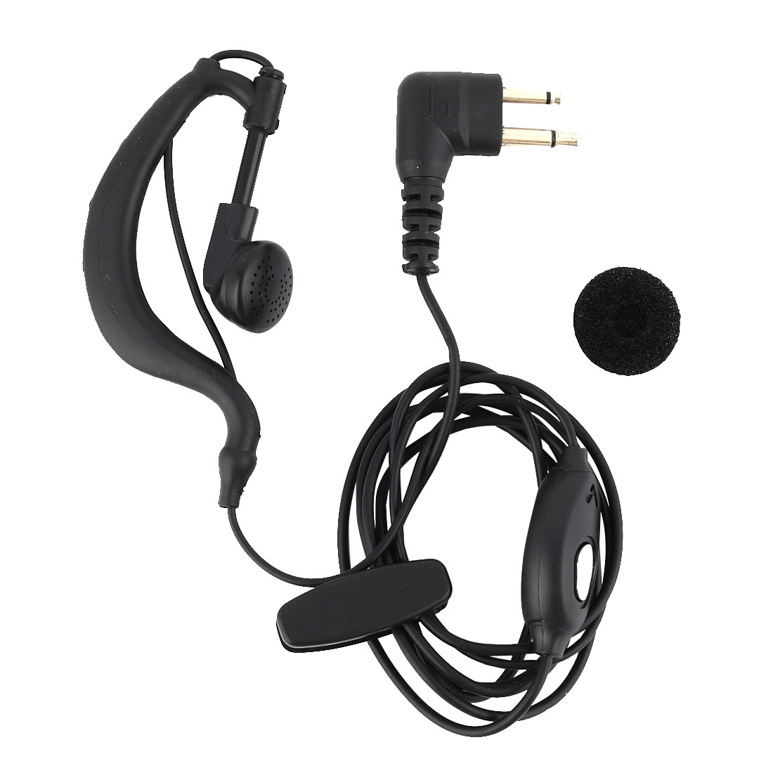 5mm Spacing Single Cord 2 Pin Jack Earphone Headset Earpiece for Motorola