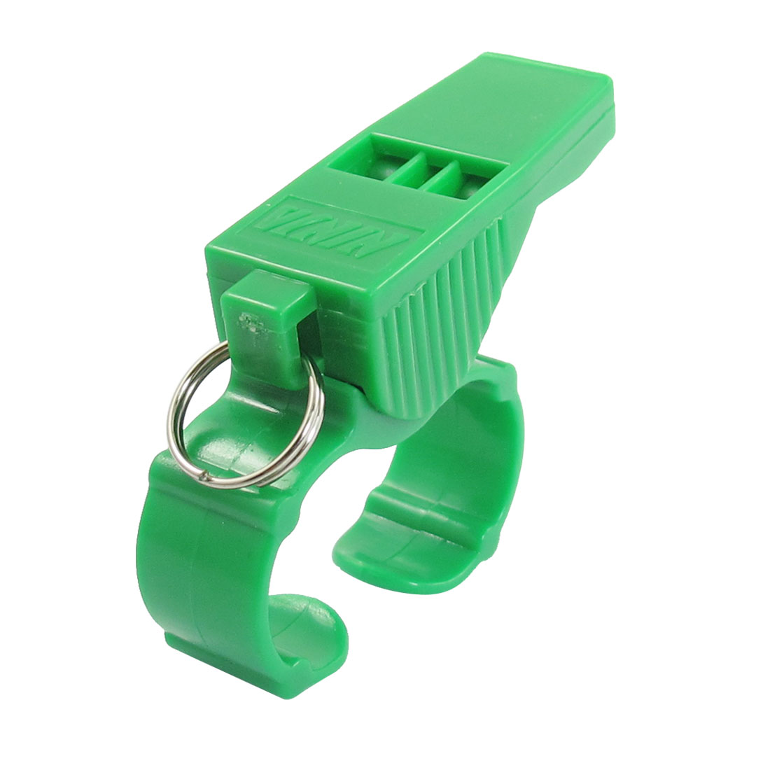 Referee Green Plastic Shell Pealess Finger Grip Whistle Toy