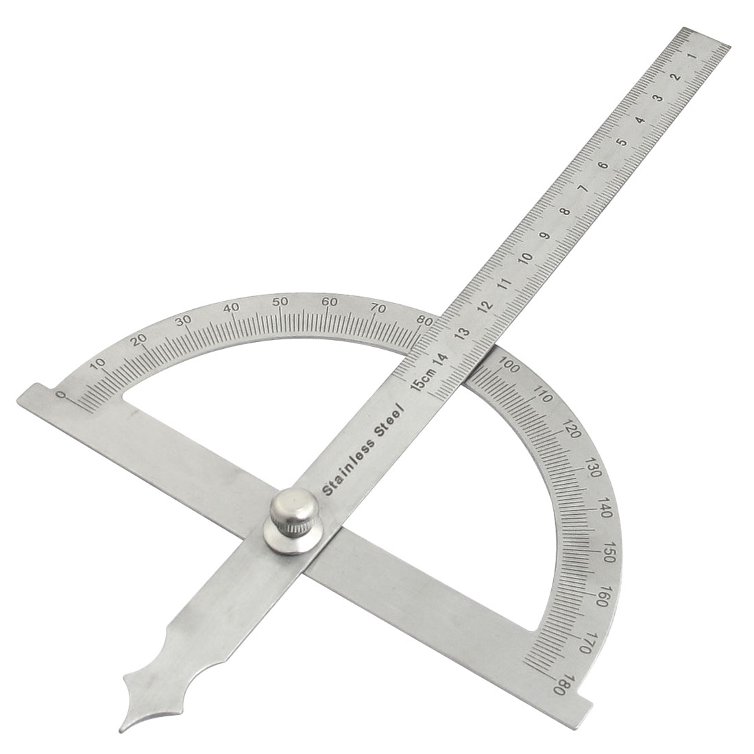 15cm Straightedge Rotating 180 Degree Measure Protractor Dual Purpose Ruler