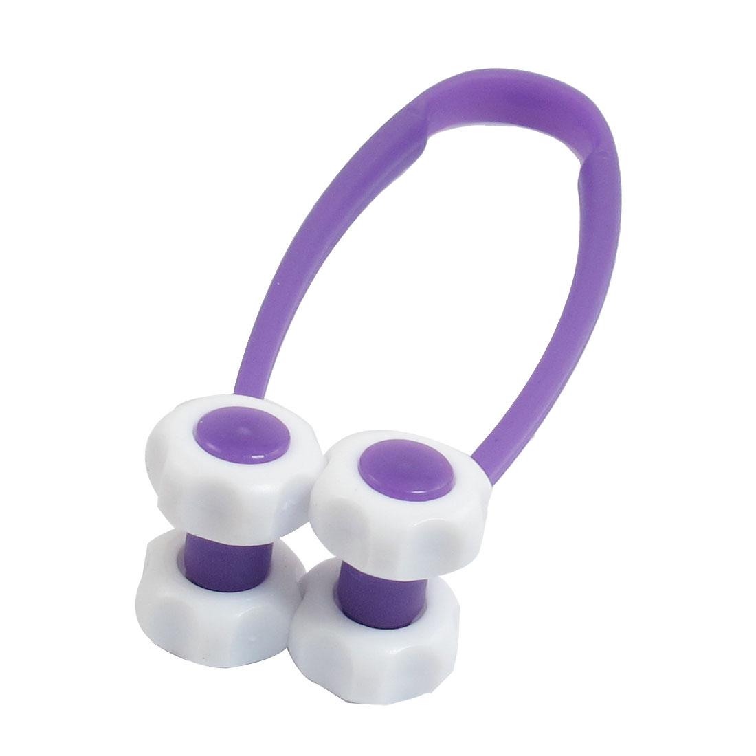 Beaty Tool Purple White Plastic 4 Flower Roller Facial Massager