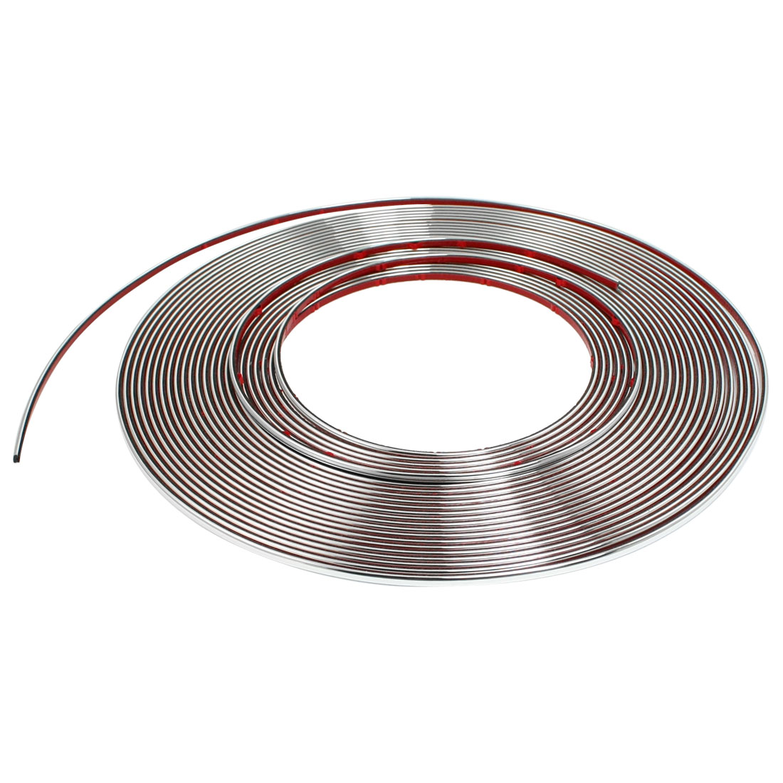 Silver Tone PVC Adhesive Car Window Moulding Trim Strip Line 15M x 4mm