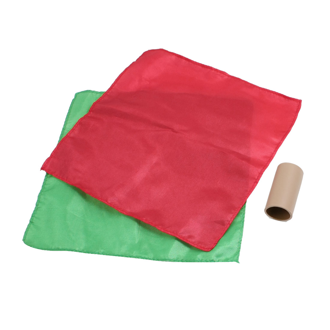 Magician Magic Charmer Tricks Color Changing Silk Scarves Tool Set Red Green