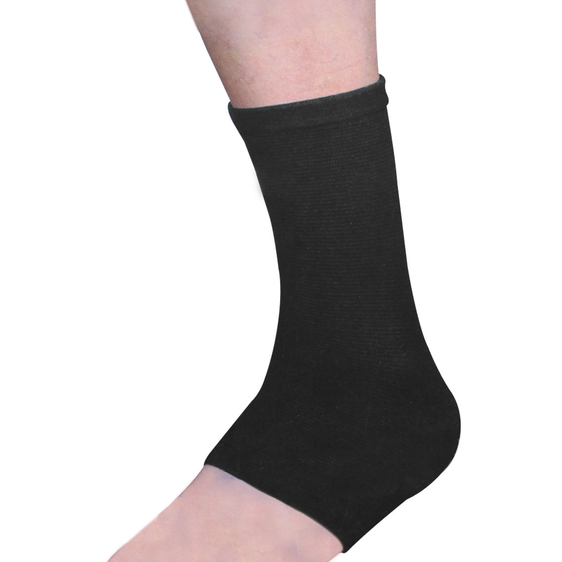 Sports Protection Black Striped Elastic Heel Ankle Support Sleeve Shield
