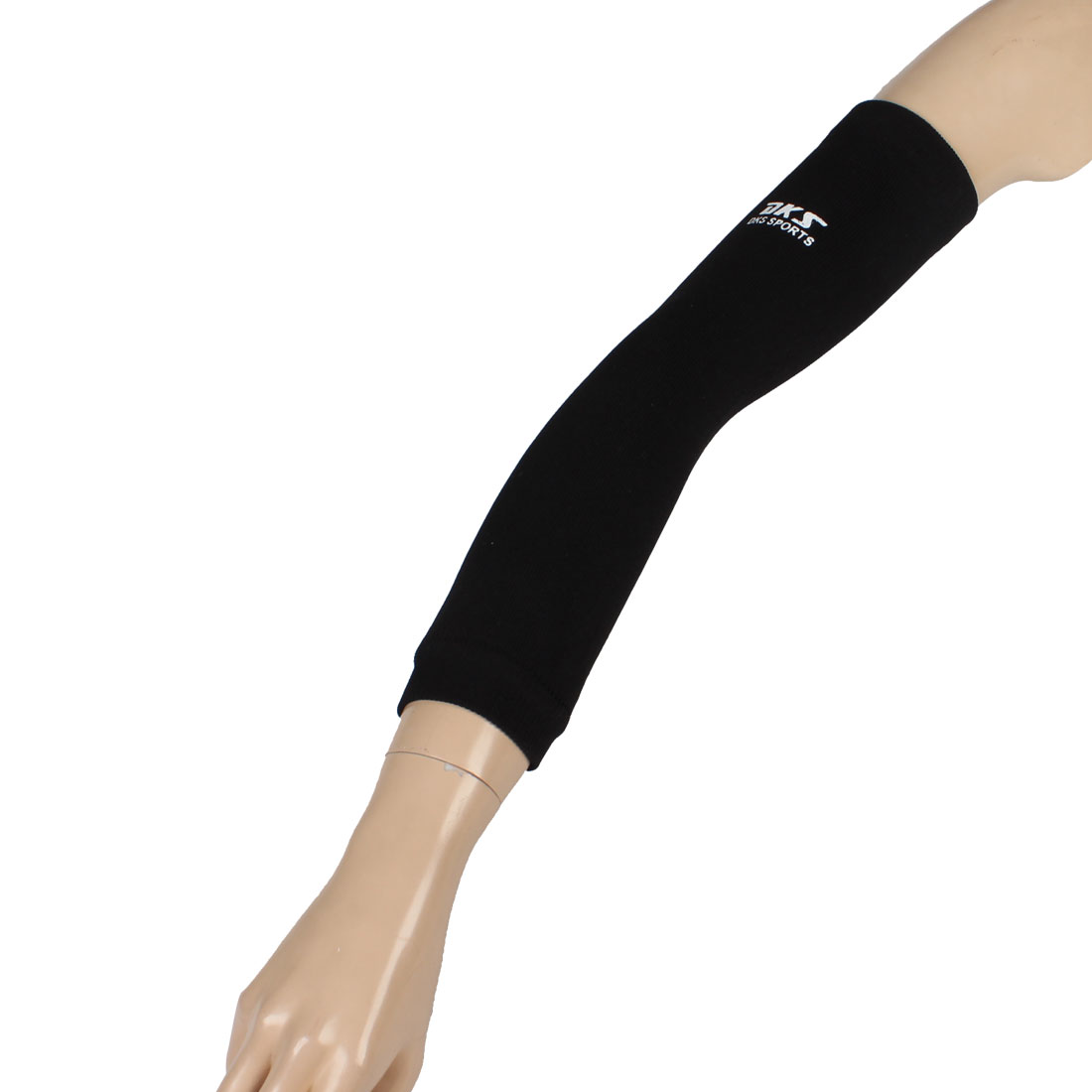 Tennis Golf Stretchy Pull Over Sleeve Elbow Protective Support Black