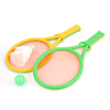 Child Play Game Green Orange Plastic Pingpong Badminton Racket Bat Toy Set