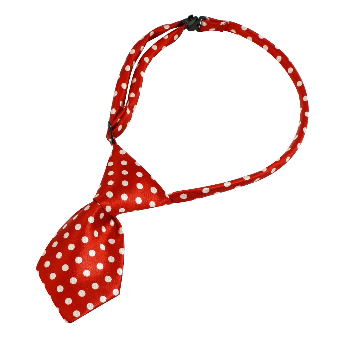 Red Dog Cat Pet Collar Bow Ties Neckties Accessory White Dots Decor