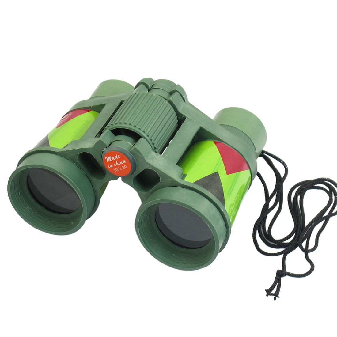 Camouflage Color Plastic 10mm x 30mm Binocular Toy for