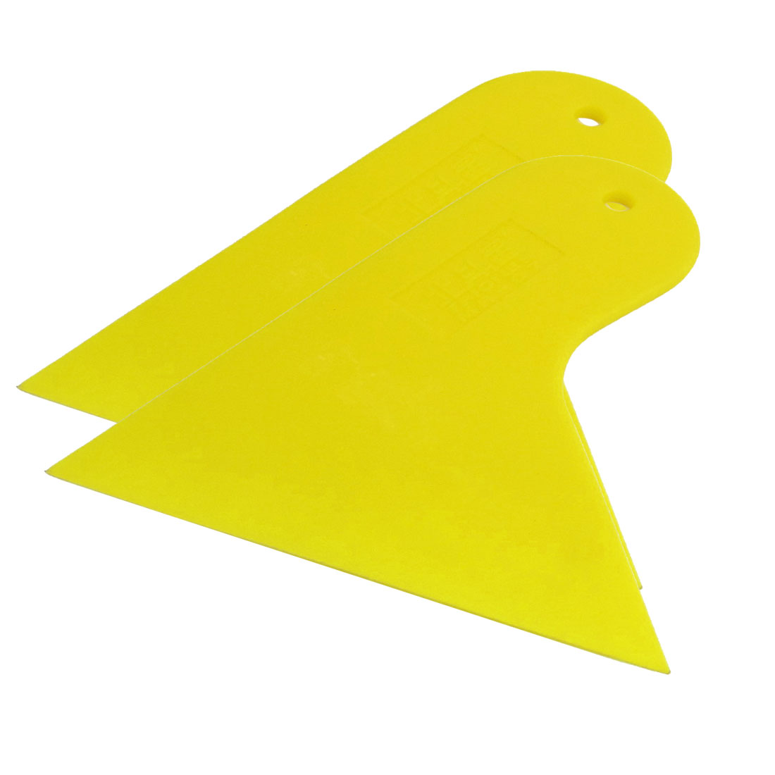 2 Pcs Auto Window Glass Sun Visor Film Tint Bubble Scraper Yellow