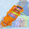 Baby Orange Serinette Metal Truck Music Maker Xylophone Instrument Toy