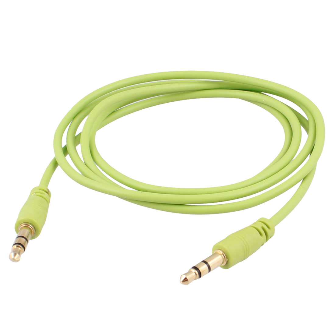 "40.9"" Long Lime Green 3.5mm Male to Male Stereo Audio Cable Aux Cord for PC"