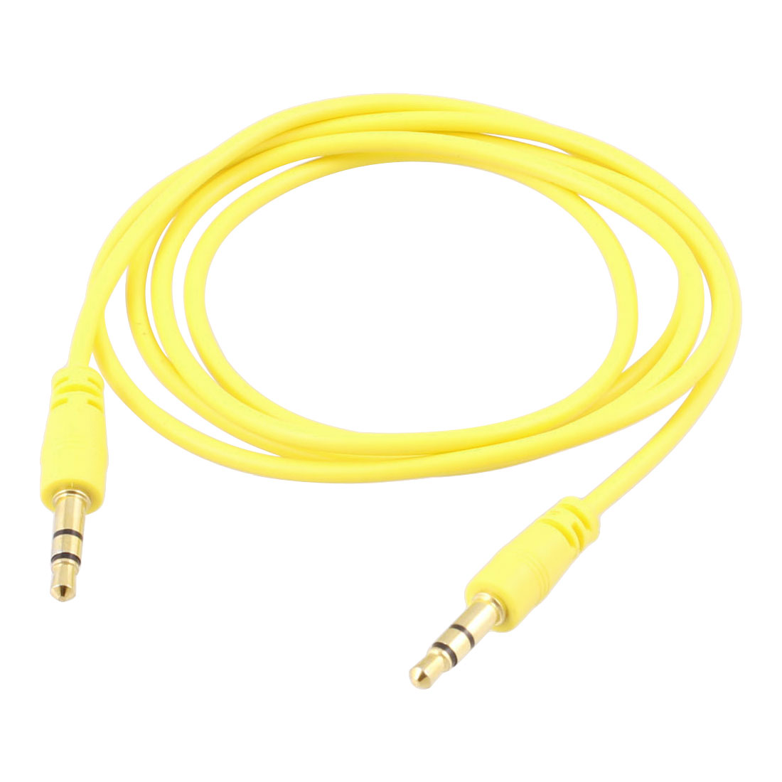 "40.9"" Long Yellow 3.5mm Male to Male Stereo Audio Cable Aux Cord for PC"