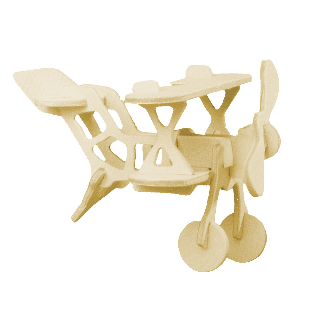 DIY Wooden Biplane Model 3D Puzzle Toy Woodcraft Construction Kit for Child