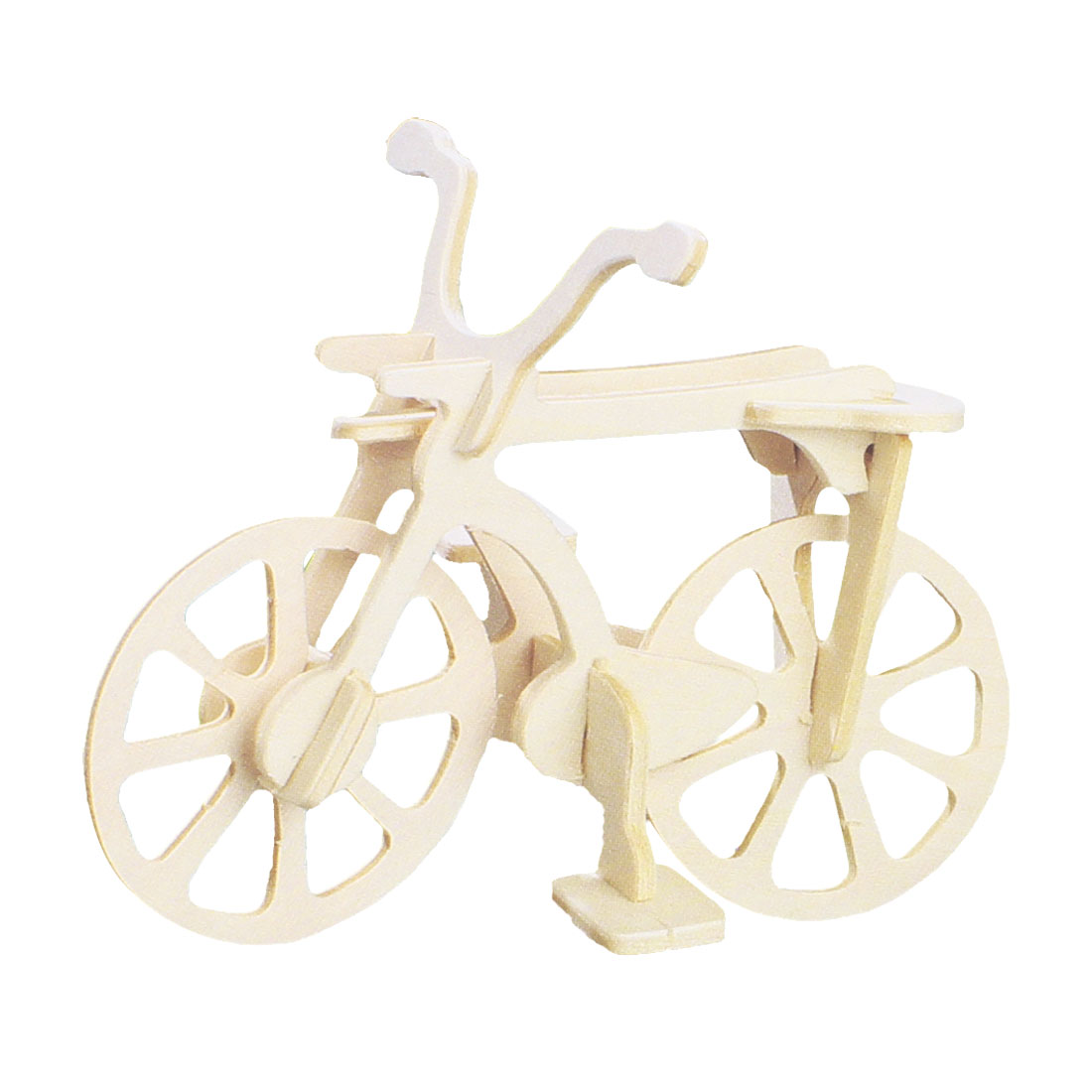 Children DIY Wooden Bicycle Model 3D Puzzle Toy Woodcraft Construction Kit