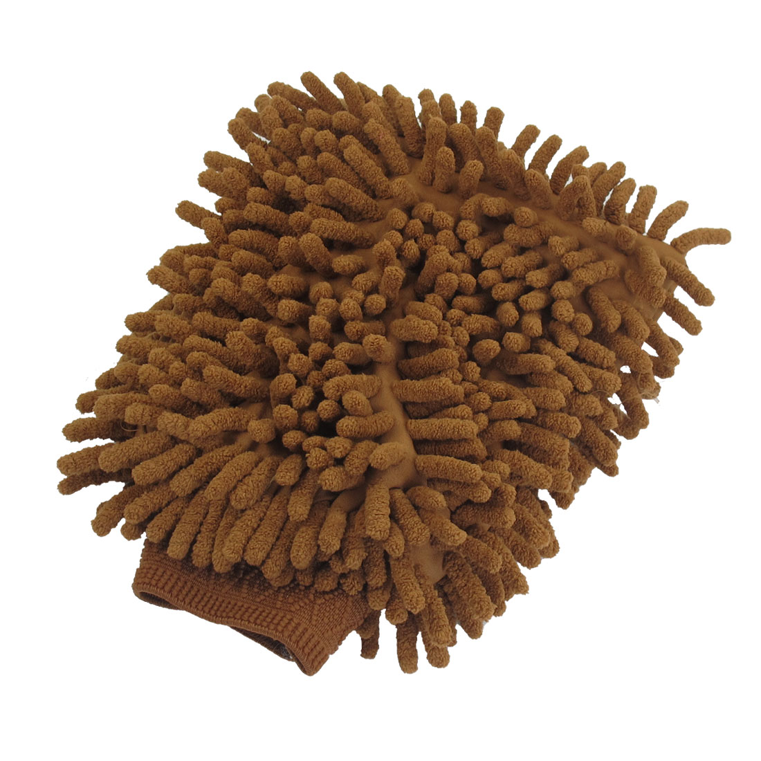 Auto Car Washing Tool Double Side Brown Microfiber Mitt Glove