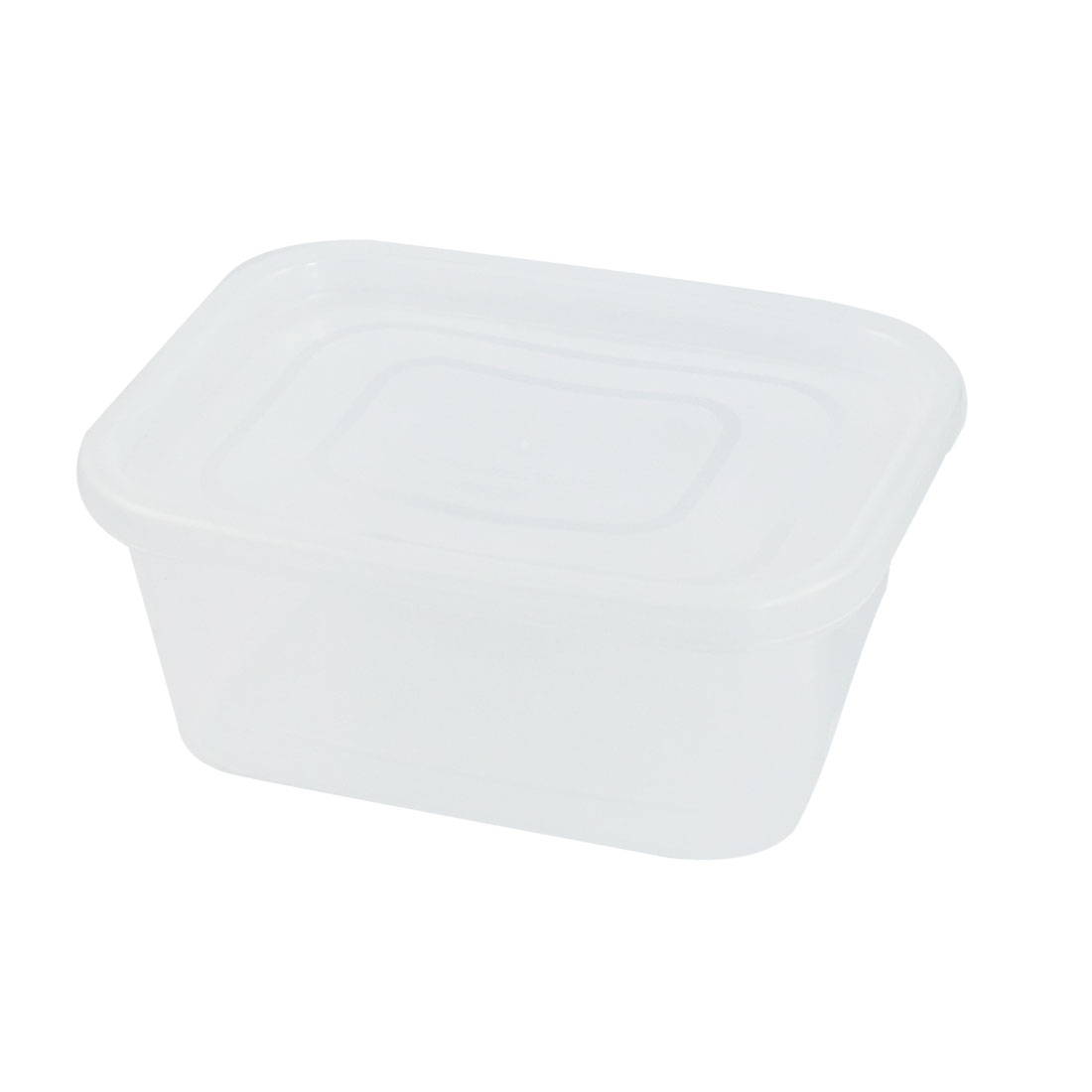 Rectangle Shaped Clear Plastic Lunch Boxes Case 740mL